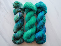 DREAMS OF THE SEA on Sparkly Merino Sock