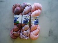 THREE-SKEIN FADE SET on So Silky Sock - Midsummer Night's Dream, Kristin Lavransdatter, and Rosy-Fingered Dawn
