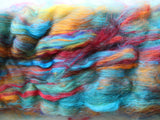 TIE-DYE Art Batts to Spin and Felt