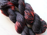 TRICK OR TREAT on Sparkly Merino Sock