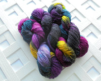 STAINED GLASS Handdyed Sparkly Sock Yarn