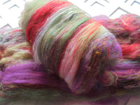 TULIP FESTIVAL Art Batts to Spin and Felt with Merino, Bamboo, and Silk