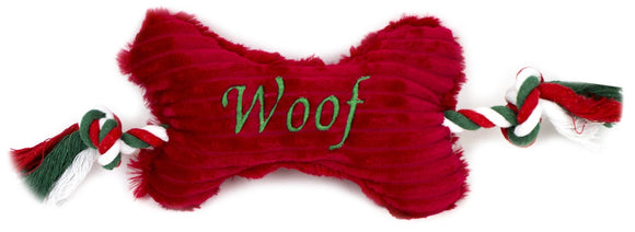 Dog Toy - Christmas 'Woof' Bone - Wanneroo Stockfeeders
