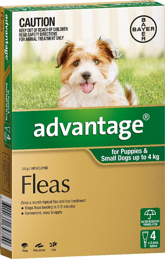 Advantage - Dogs Under 4kgs