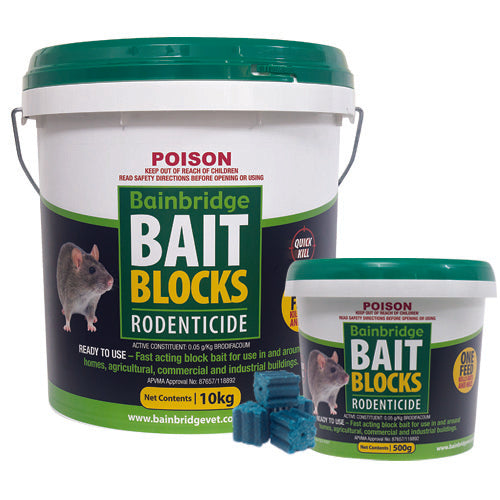 Bain Rodent Bait Blocks - Wanneroo Stockfeeders