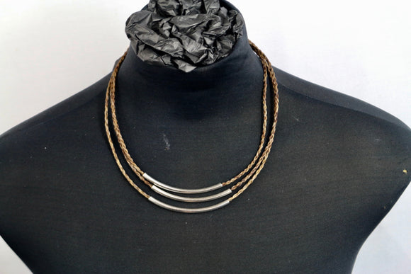 Plaited Necklace with Silver Details - Wanneroo Stockfeeders