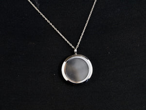 Silver Necklace with Glass Keeper Case - Wanneroo Stockfeeders
