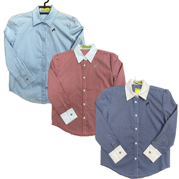 Kids Long Sleeved Button Up Shirt - Wanneroo Stockfeeders