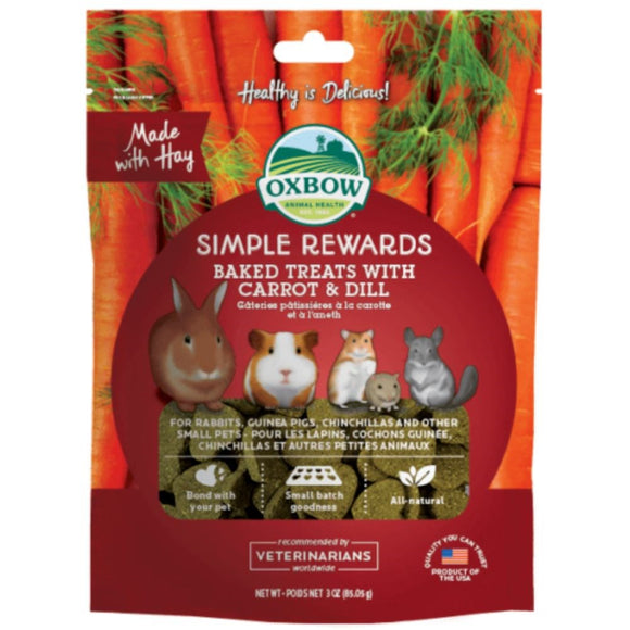 Oxbow Simple Rewards - Carrot & Dill - Wanneroo Stockfeeders