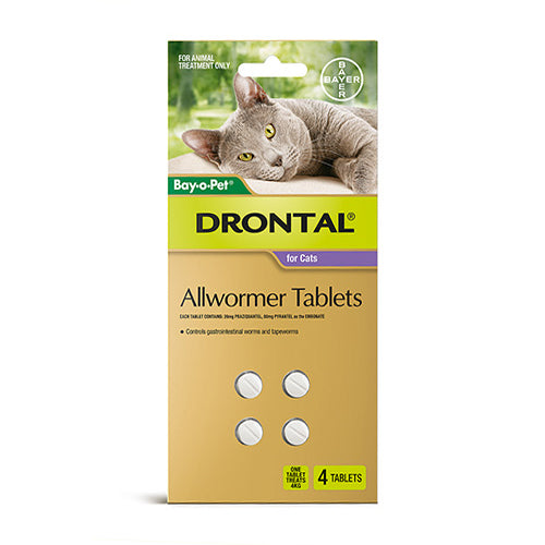 Drontal Cat Wormer With Applicator (4 tablets) - Wanneroo Stockfeeders