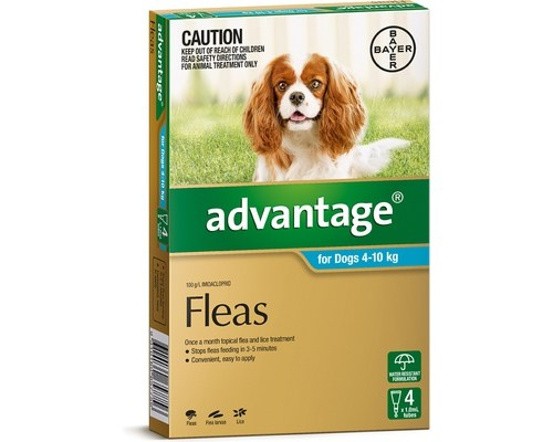 Advantage - Dogs 4-10kgs