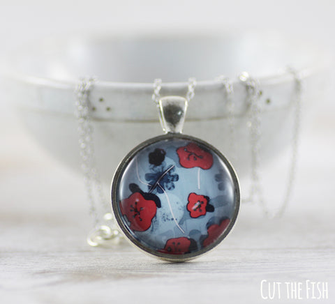 Red Blue Necklace