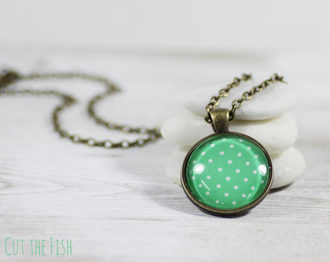 Green Polka Dot Necklace