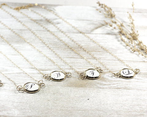 Initial Gold Filled Necklace