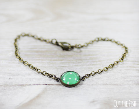 Green Polka Dot Bracelet