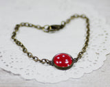 Red Polka Dot Bracelet