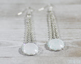 White Wedding Earrings