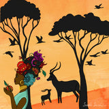 African Girl Print