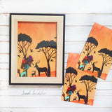 African Tribal Woman Print