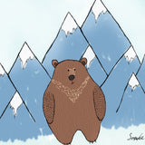 Bear in Mountains Print