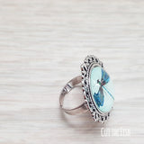 Blue Dragonfly Ring