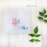 Cat with flower Greeting Card