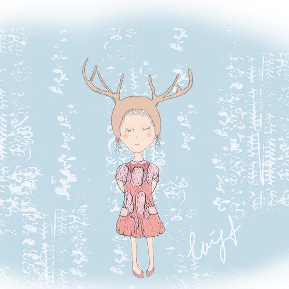 Deer girl Illustration
