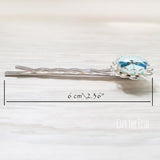 Blue Dragonfly Hair Pin