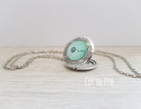 Mint Green Dandelion Locket