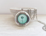 Mint Dandelion Locket