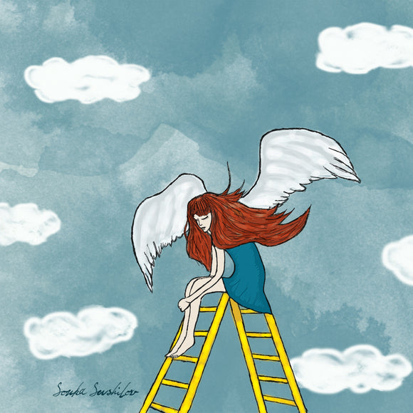 Girl with Wings Print