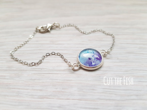 purple blue bracelet
