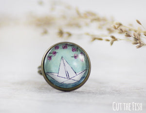paper boat ring