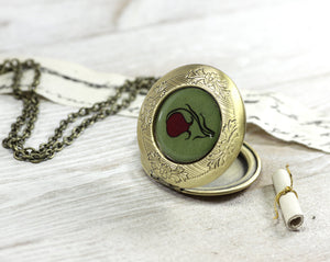 green locket necklace