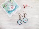 Origami Paper Boat Earrings