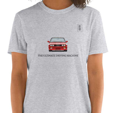 BMW E30 ULTIMATE DRIVING MACHINE T SHIRT GRIS
