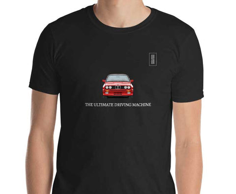 BMW E30 ULTIMATE DRIVING MACHINE T SHIRT NOIR