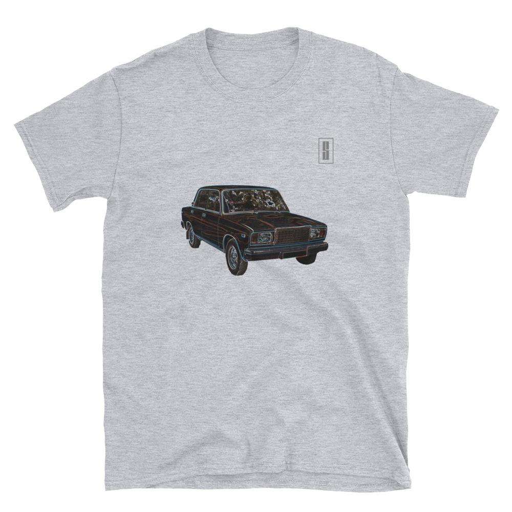 T Shirt Teeshirt Lada Riva 2105 2104 Voiture automobile gris
