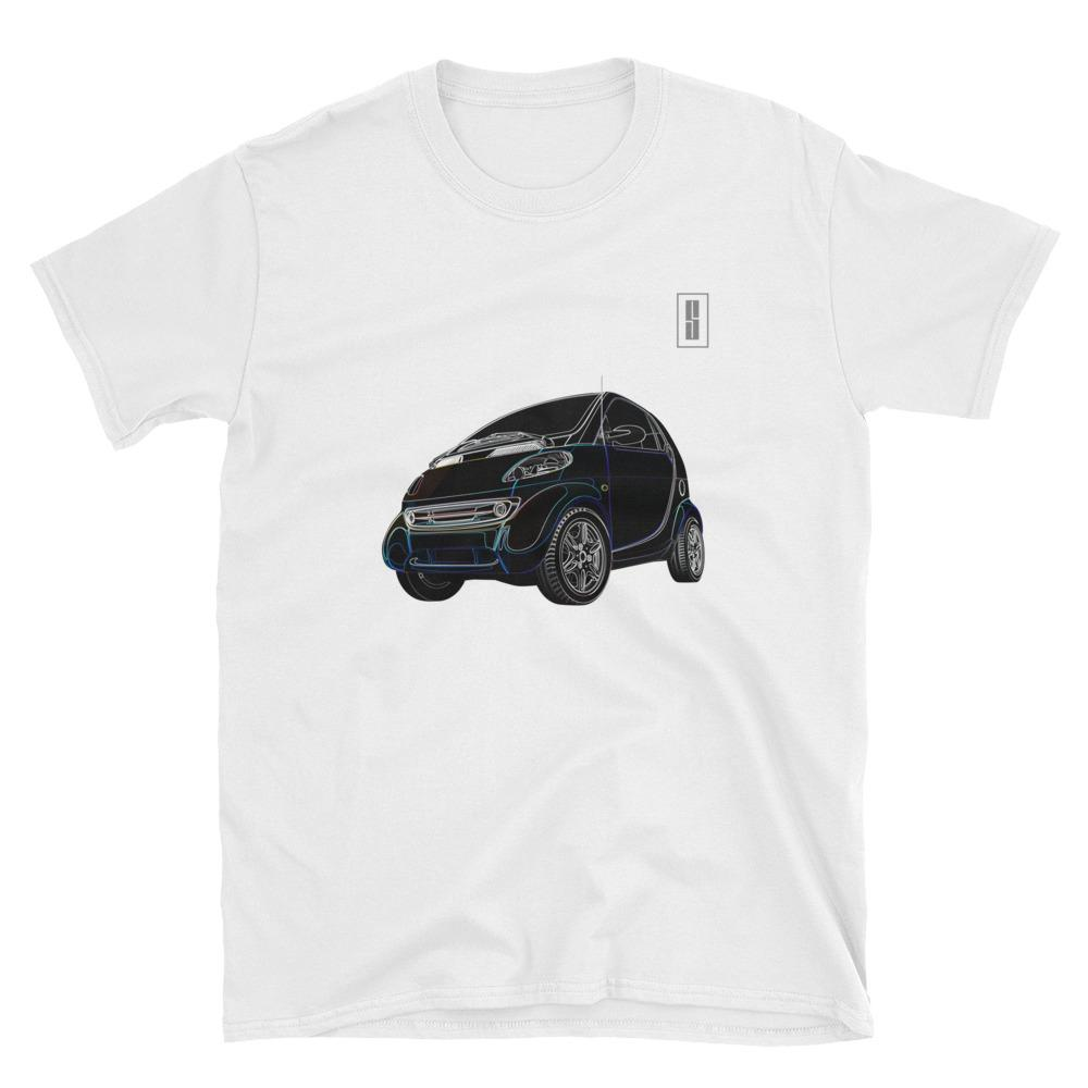 T Shirt Teeshirt Smart fortwo mk1 Voiture automobile blanc