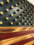 American Flag with Shell Casing Stars