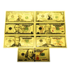 24k Gold Foil Presidential 7-piece Banknote Set