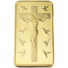 Ultra Rare Ten Commandments Jesus Golden Bar - The United American Mint