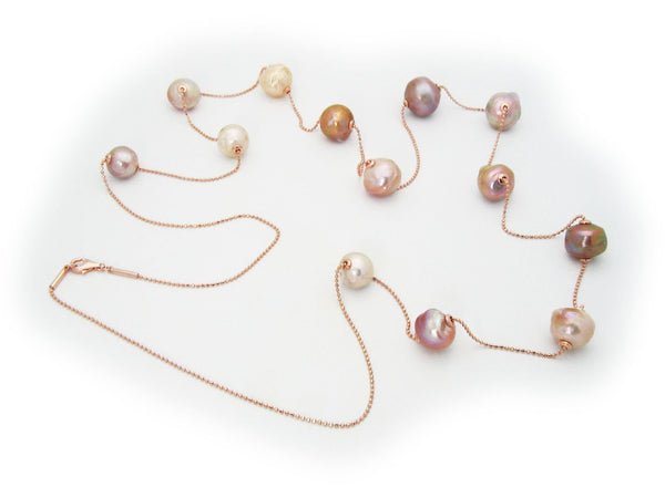 MultiColor Sliding Pearls Necklace