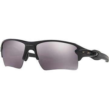 Oakley Men's Flak 2.0 XL Non-Polarized Iridium Rectangular Sunglasses, Matte Black, 59.01 mm: