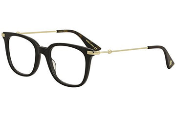 Eyeglasses Gucci GG 0110 O- 001 BLACK/GOLD:
