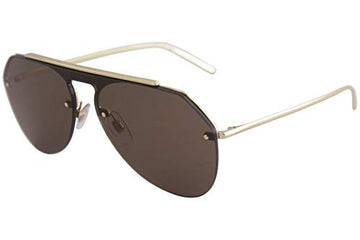 Dolce and Gabbana DG2213 26696 Gold DG2213 Pilot Sunglasses