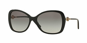 Versace Womens Sunglasses (VE4303) Black/Grey Acetate - Polarized - 58mm: Clothing