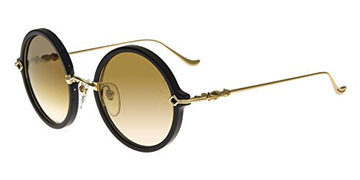 Chrome Hearts MOIST BLACK GOLD/BROWN SHADED GOLD 52/24/131 women Sunglasses: Gateway
