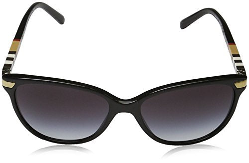 Burberry BE4216 - 30018G Sunglasses BLACK W/ GRAY GRADIENT Lens 57mm