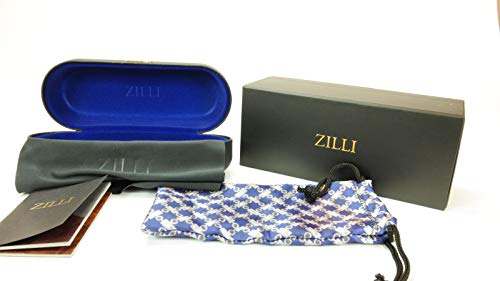 ZILLI Luxurious Eyewear ZI 65016 59-10-140 Made with Crocodile Leather and Titanium HAND MADE IN FRANCE, Platinum, Black, (C02): Gateway